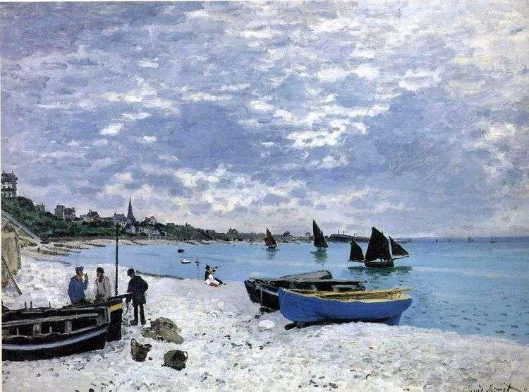 Пляж в Сент Адрессе   Клод Моне