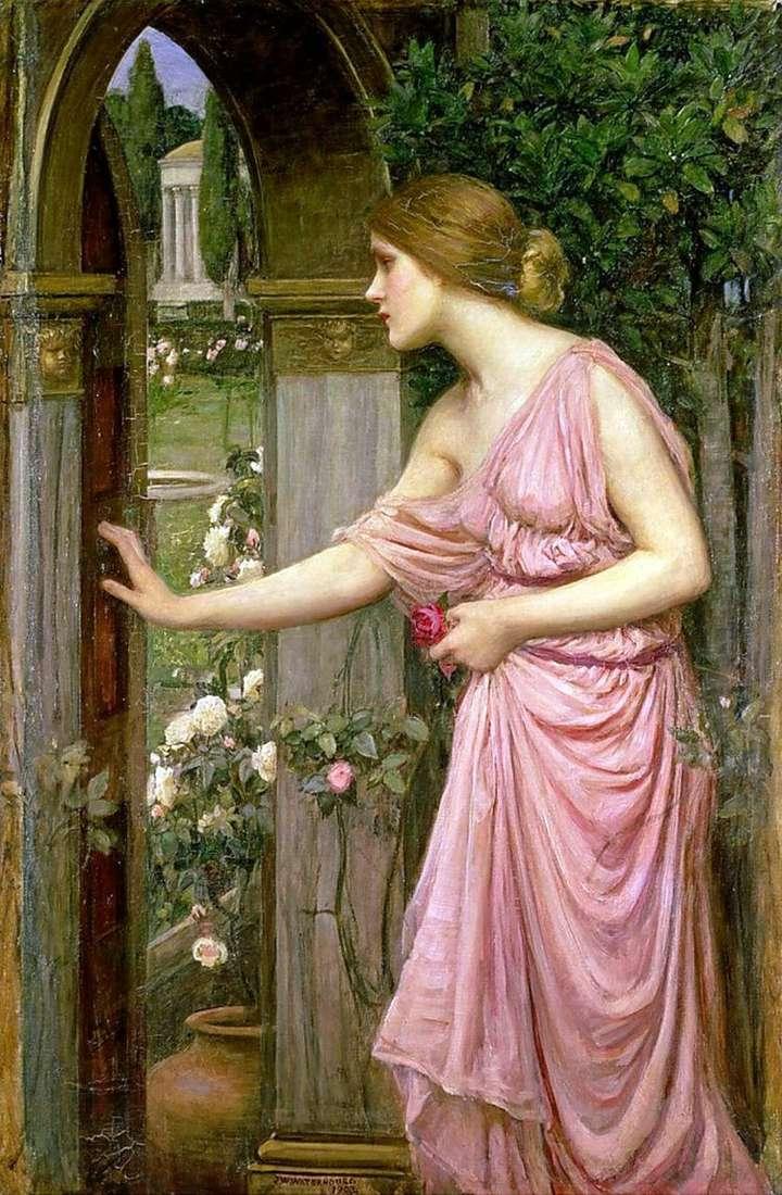 Психея, открывающая дверь в сад Купидона   Джон Уильям Уотерхаус