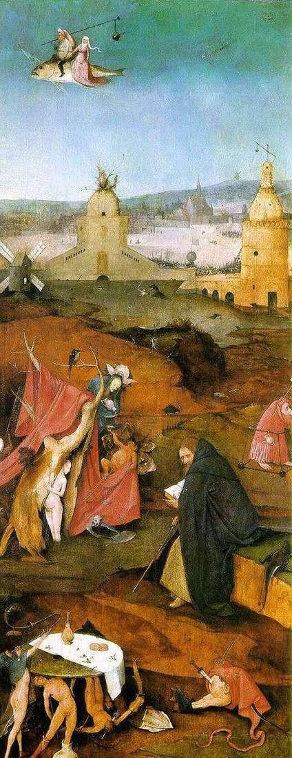 Видения Святого Антония. Правое крыло алтаря   Иероним Босх