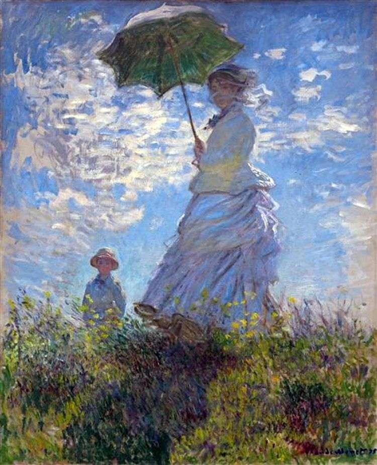 Прогулка: Камилла Моне с сыном Жаном   Клод Моне