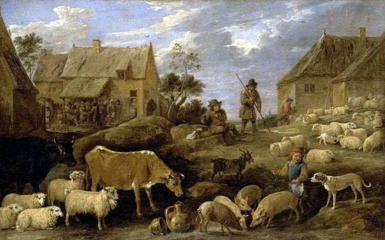 Пейзаж с пастухом и стадом   Давид Тенирс