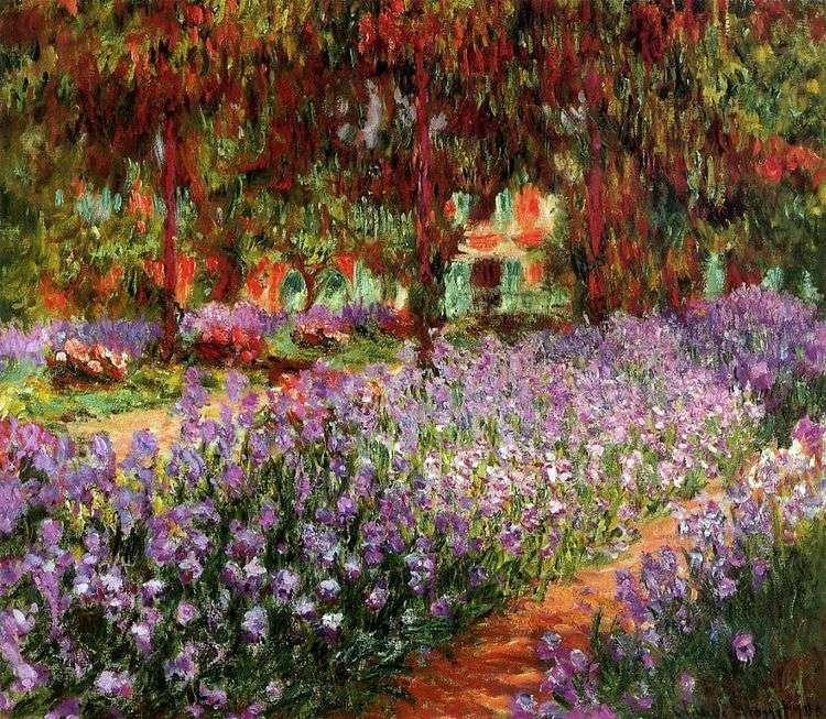 Сад (Ирисы)   Клод Моне