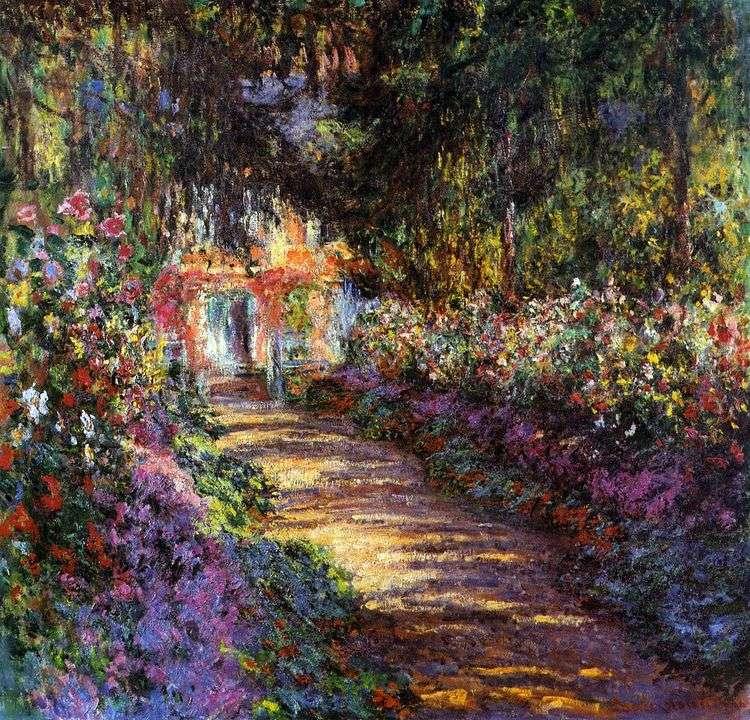 Сад в цвету   Клод Моне