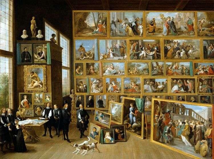 Эрцгерцог Леопольд Вильгельм Австрийский в его галерее в Брюсселе   Давид Тенирс
