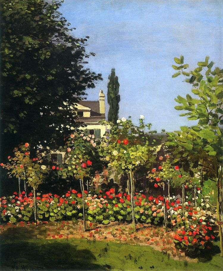 Сад в цвету в Сент Адресс   Клод Моне