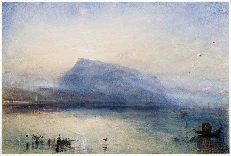 Гора Риги: вид на Люцернское озеро на восходе   Уильям Тернер