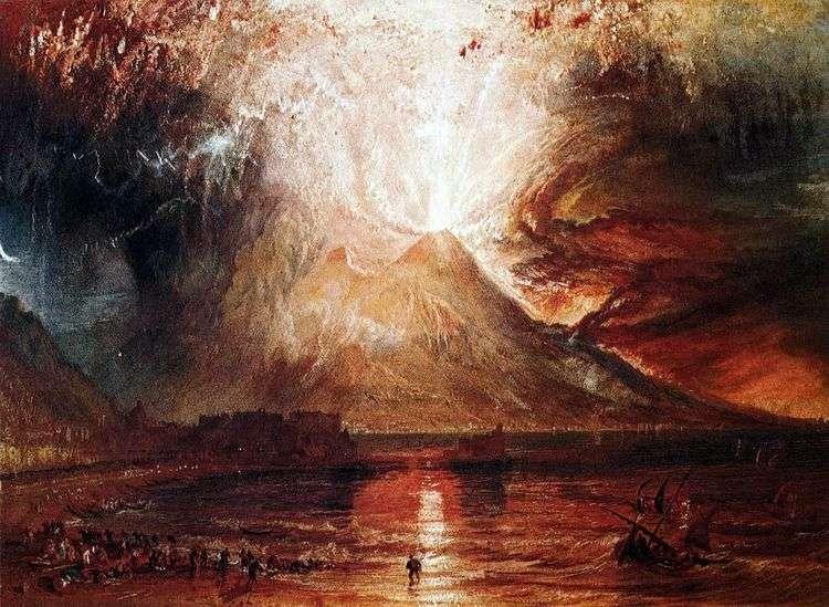 Извержение Везувия   Уильям Тернер