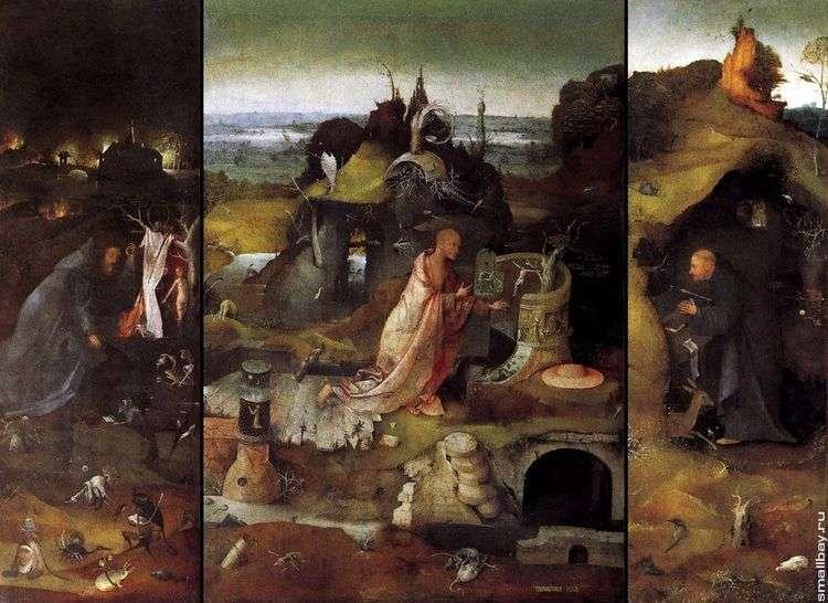 Святые отшельники. Триптих   Иероним Босх
