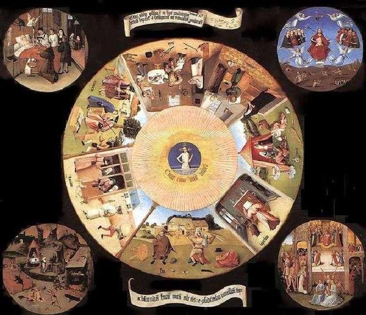 Семь смертных грехов и четыре последние вещи   Иероним Босх