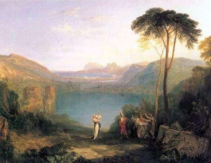 Озеро Аверн: Эней и дух Кумы   Уильям Тернер