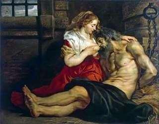 Отцелюбие римлянки (Цимон и Перо)   Питер Рубенс