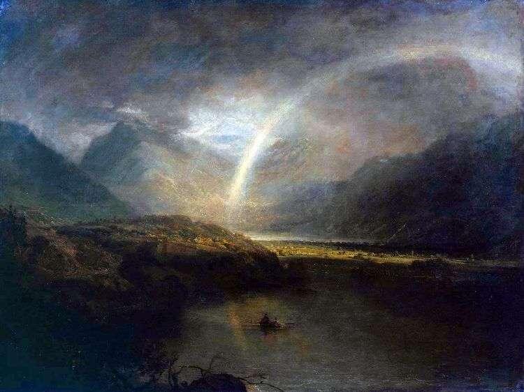 Озеро Баттермир, с радукой и ливнем   Уильям Тернер