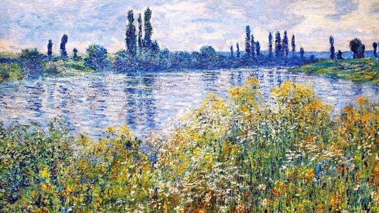 Цветы на берегах Сены   Клод Моне