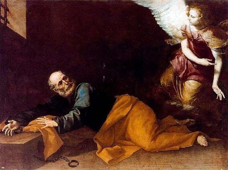 Освобождение апостола Петра из темницы   Хусепе де Рибера