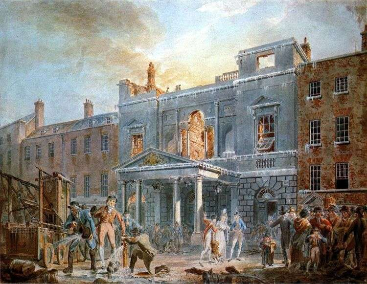 Пантеон, утро после пожара   Уильям Тернер