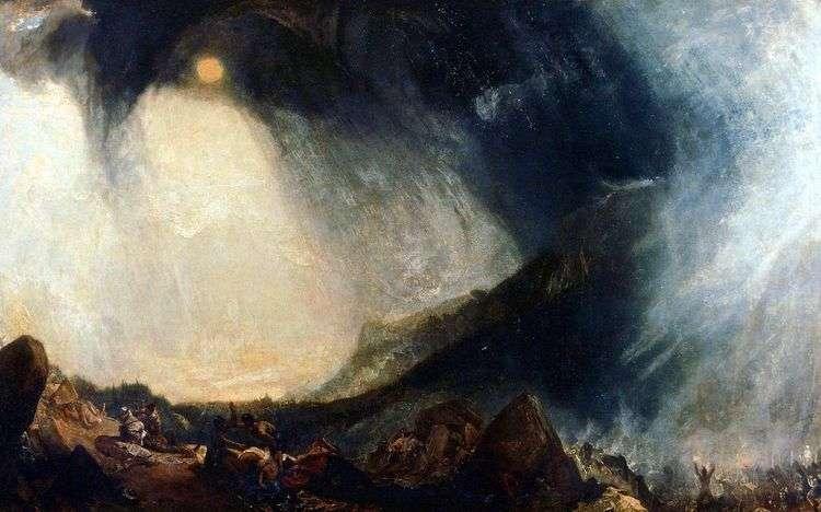 Переход Ганнибала через Альпы   Уильям Тернер