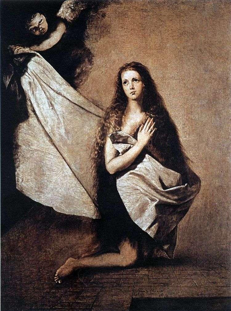 Святая Инесса и ангел укрывающий ее покрывалом   Хусепе Рибера