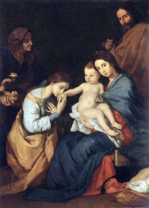 Святое семейство со святой Екатериной   Хусепе де Рибера