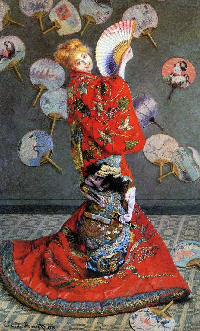 Японка (Камилла Моне в японском костюме)   Клод Моне
