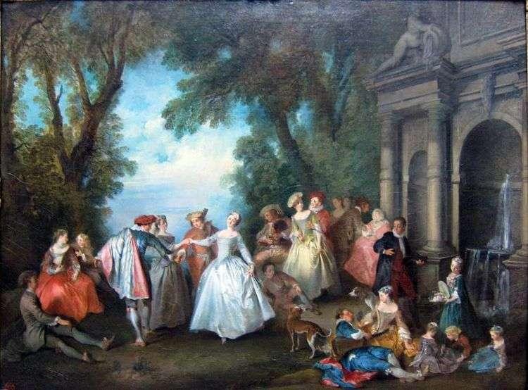 Танцы у фонтана   Никола Ланкре
