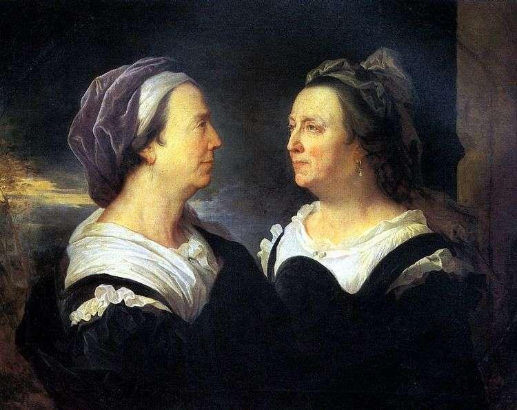 Мадам Риго, мать художника, в двух портретах   Гиацинт Риго