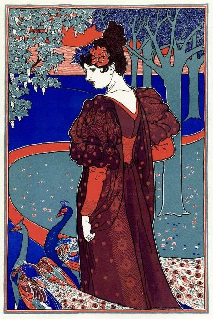 Дама с павлинами   Луис Джон Рид