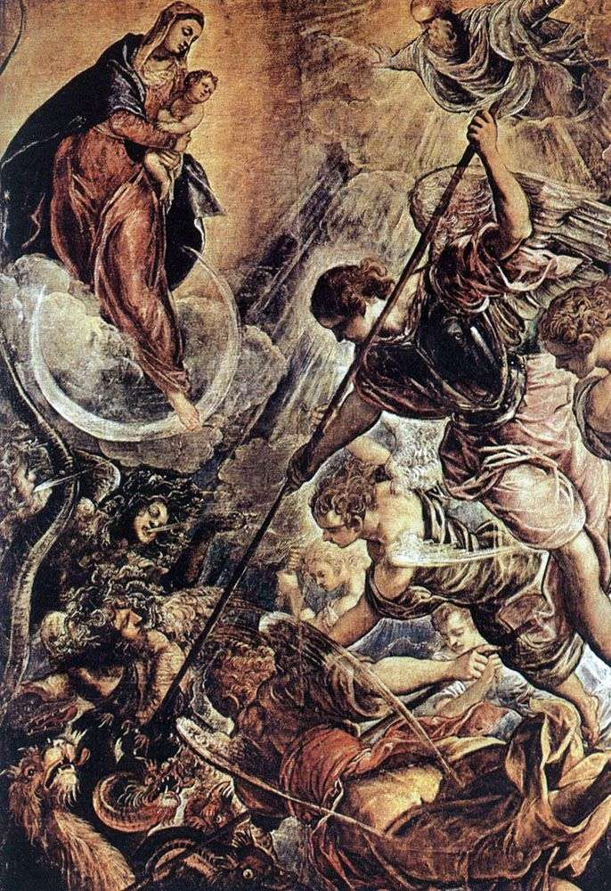Битва архангела Михаила с сатаной (2 я пол.16 го века)   Якопо Тинторетто