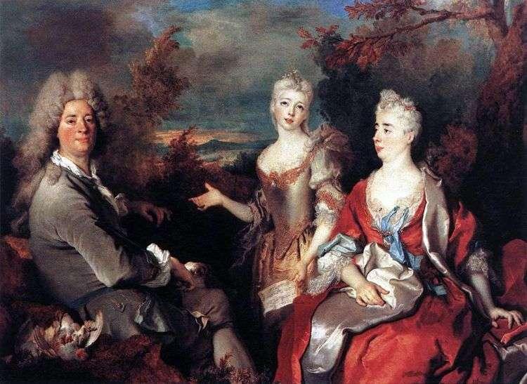 Семейный портрет   Никола де Ларжильер