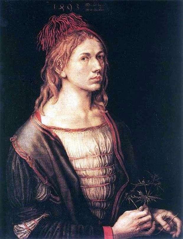 Автопортрет 1493 год   Альбрехт Дюрер