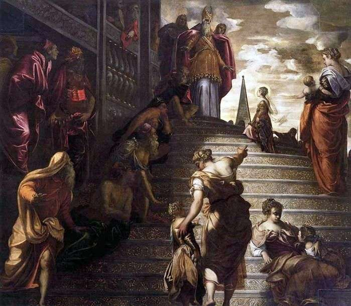 Введение Марии во храм   Якопо Тинторетто
