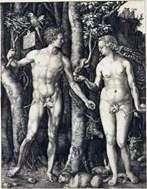 Адам и Ева (совмещенные)   Альбрехт Дюрер