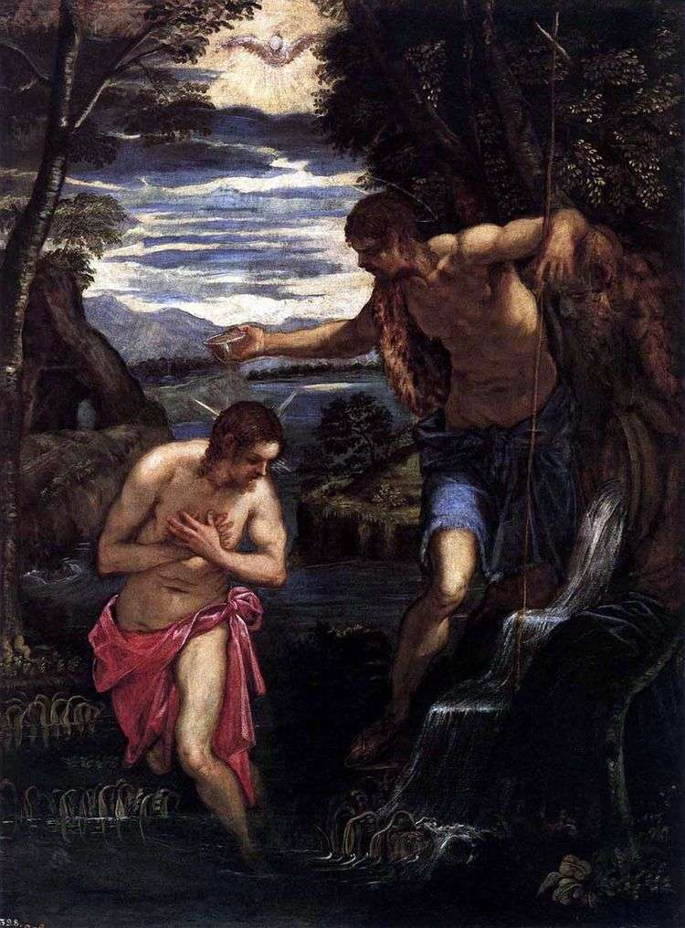 Крещение Христа   Якопо Тинторетто