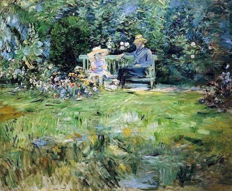 Урок в саду   Берта Моризо