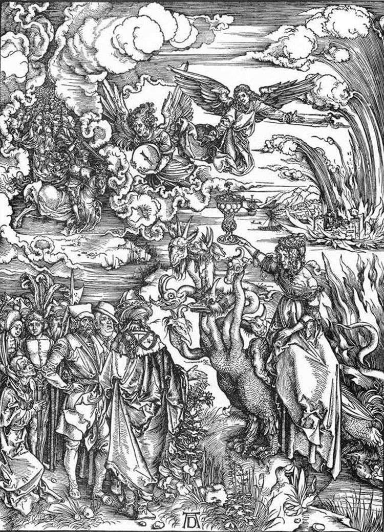 Вавилонская блудница   Альбрехт Дюрер
