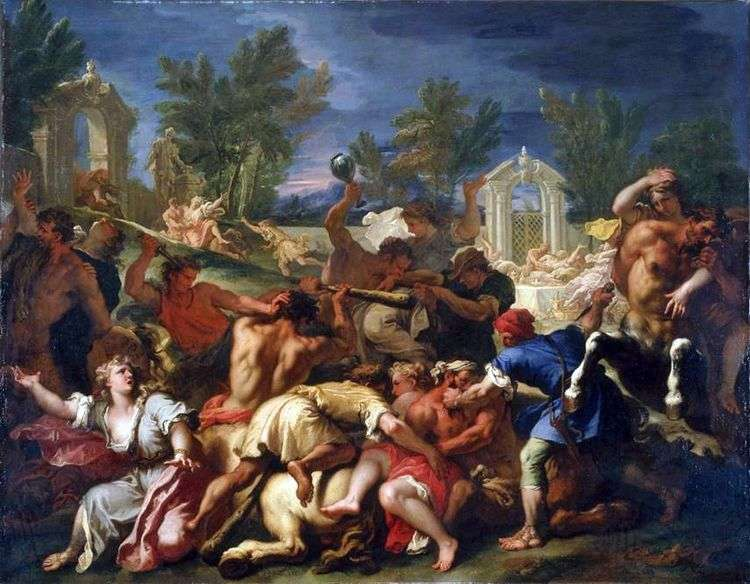 Битва лапифов с кентаврами   Себастьяно Риччи