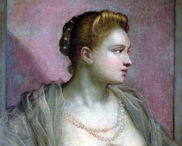 Портрет молодой женщины   Якопо Тинторетто
