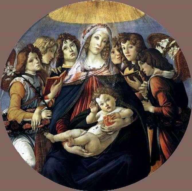 Мадонна с гранатом   Сандро Боттичелли