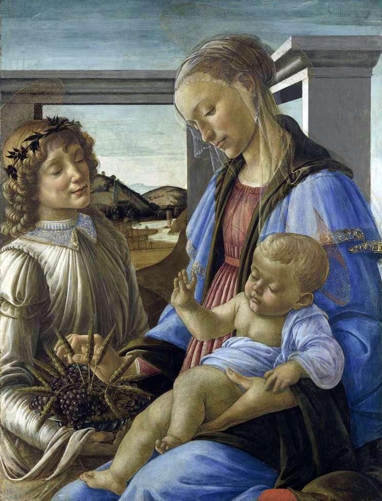 Мадонна с младенцем и ангелом (Мадонна Евхаристии)   Сандро Боттичелли