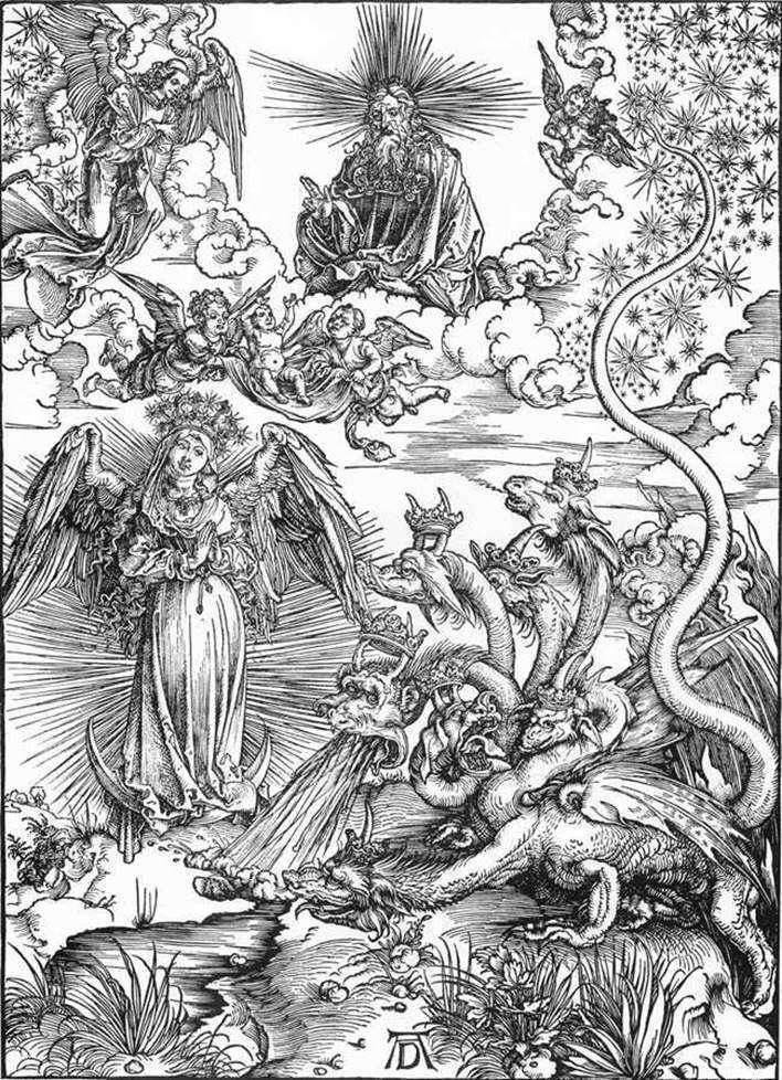 Женщина Солнце и семиголовый Дракон   Альбрехт Дюрер