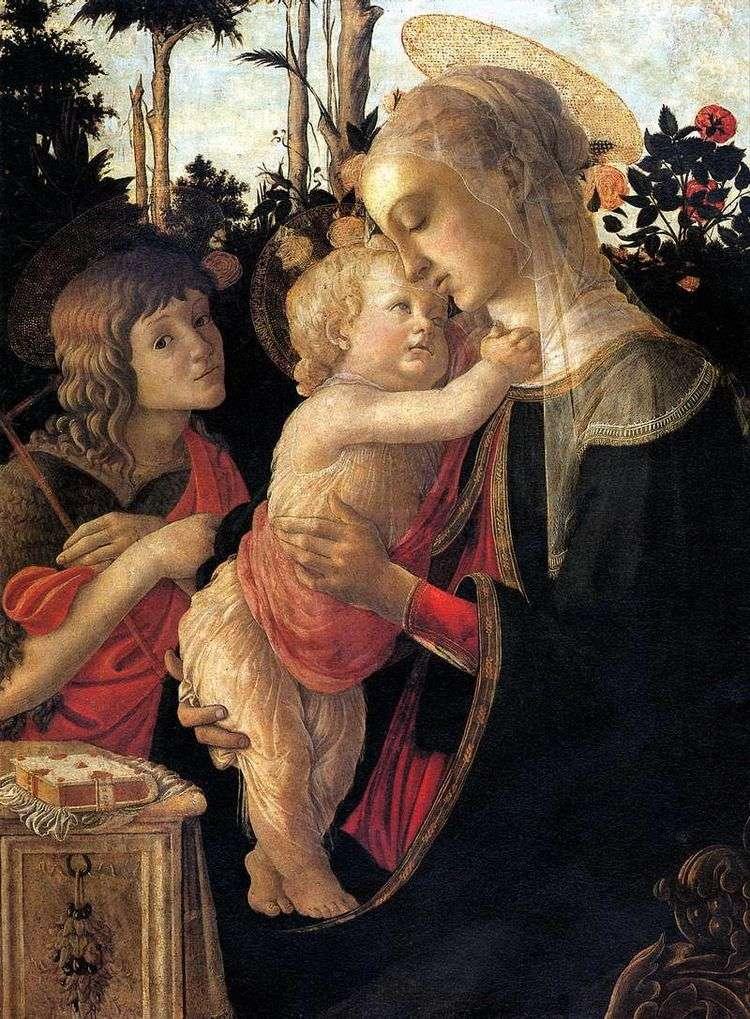 Мадонна с Младенцем и Иоанном Крестителем   Сандро Боттичелли