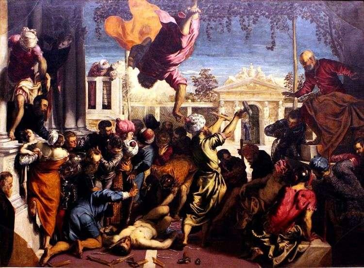 Св. Марк освобождает раба   Якопо Тинторетто