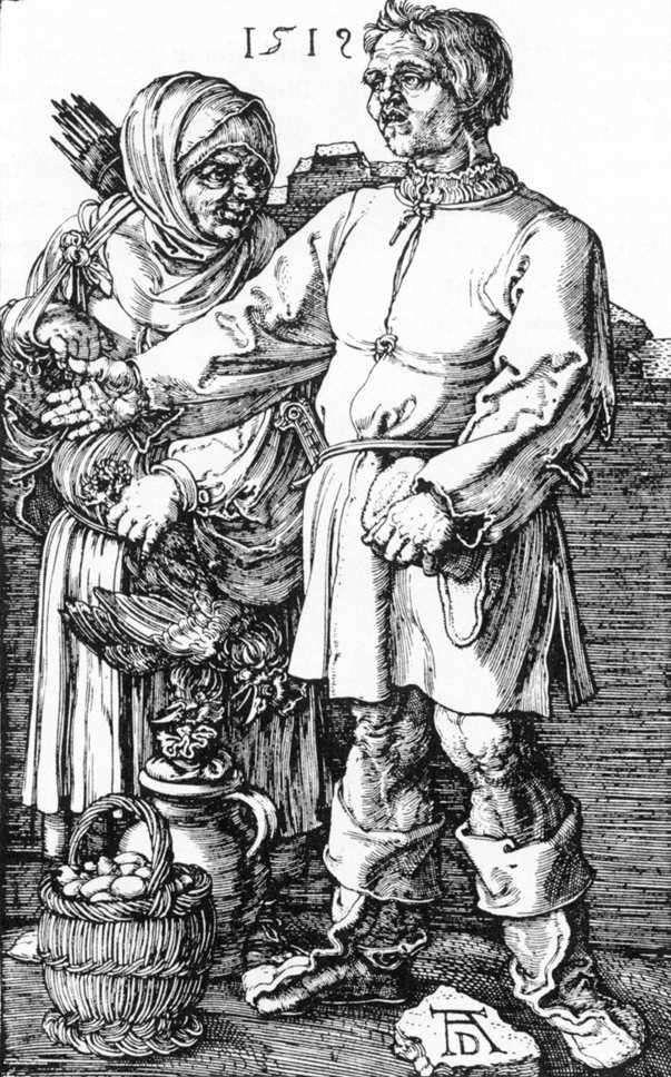 Крестьянин с женой на рынке   Альбрехт Дюрер