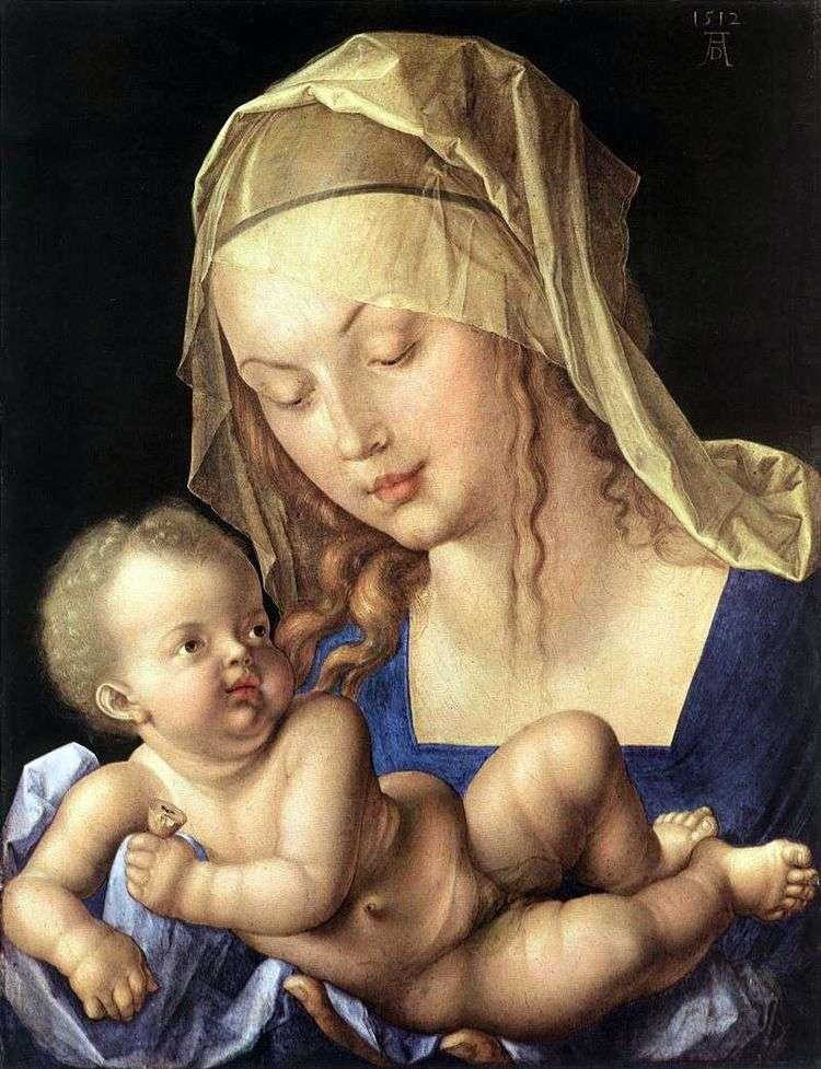 Мадонна с младенцем и грушей   Альбрехт Дюрер