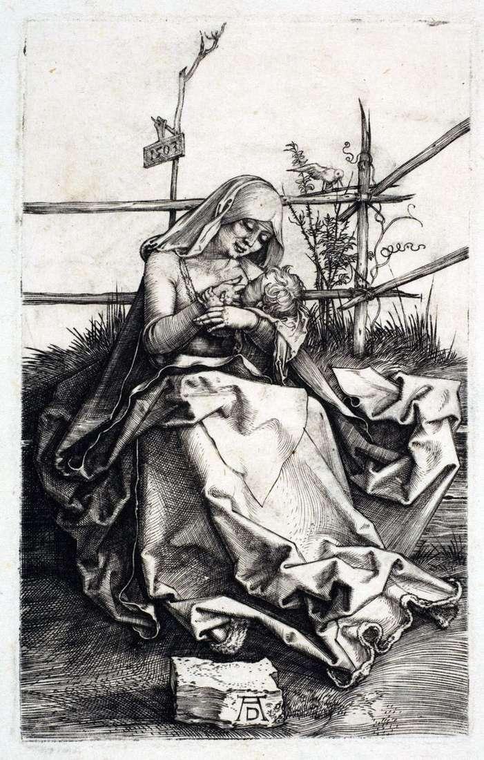 Мария на скамье из дерна   Альбрехт Дюрер
