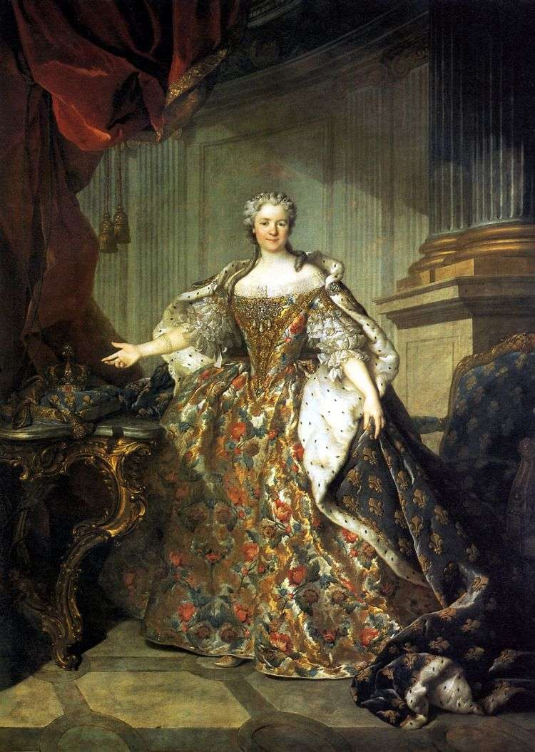 Мария Лещинская, королева Франции, жена Людовика XV   Луи Токке