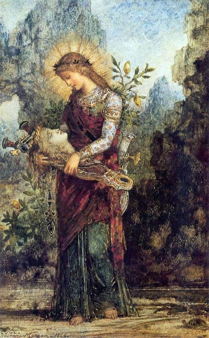 Фракийская девушка с головой Орфея на его лире   Гюстав Моро