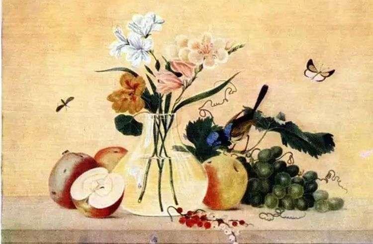 Цветы, фрукты, птица   Федор Толстой