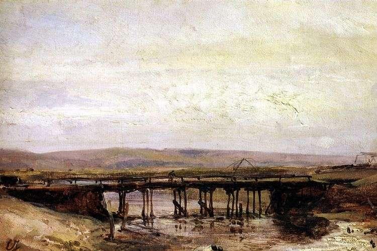 Деревянный мост   Эжен Изабе