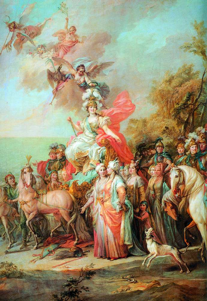 Аллегория на победу Екатерины II над турками и татарами   Стефано Торелли