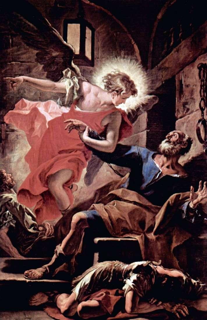 Освобождение апостола Петра ангелом   Себастьяно Риччи